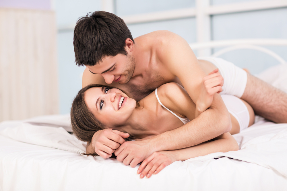 Image result for couple Try some moves within the bed