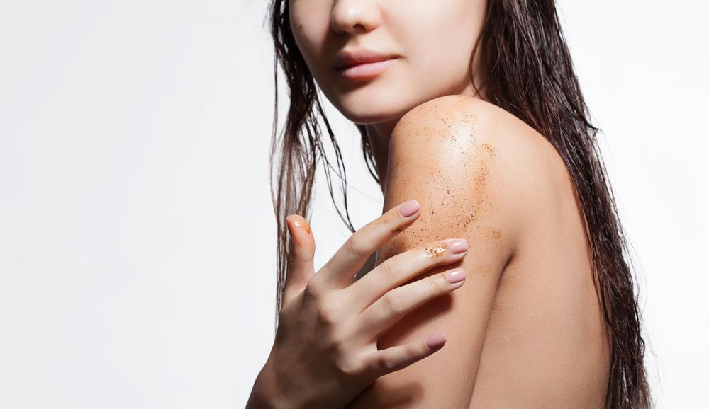 Image result for applying body scrub