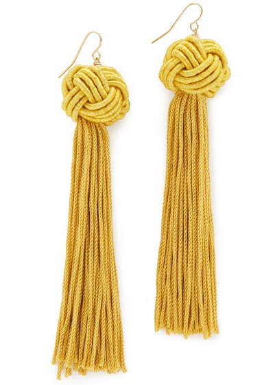 Yellow Knotted Earrings