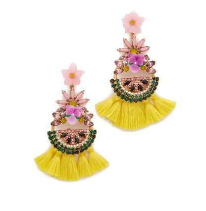 Floral Elizabeth Cole Earrings