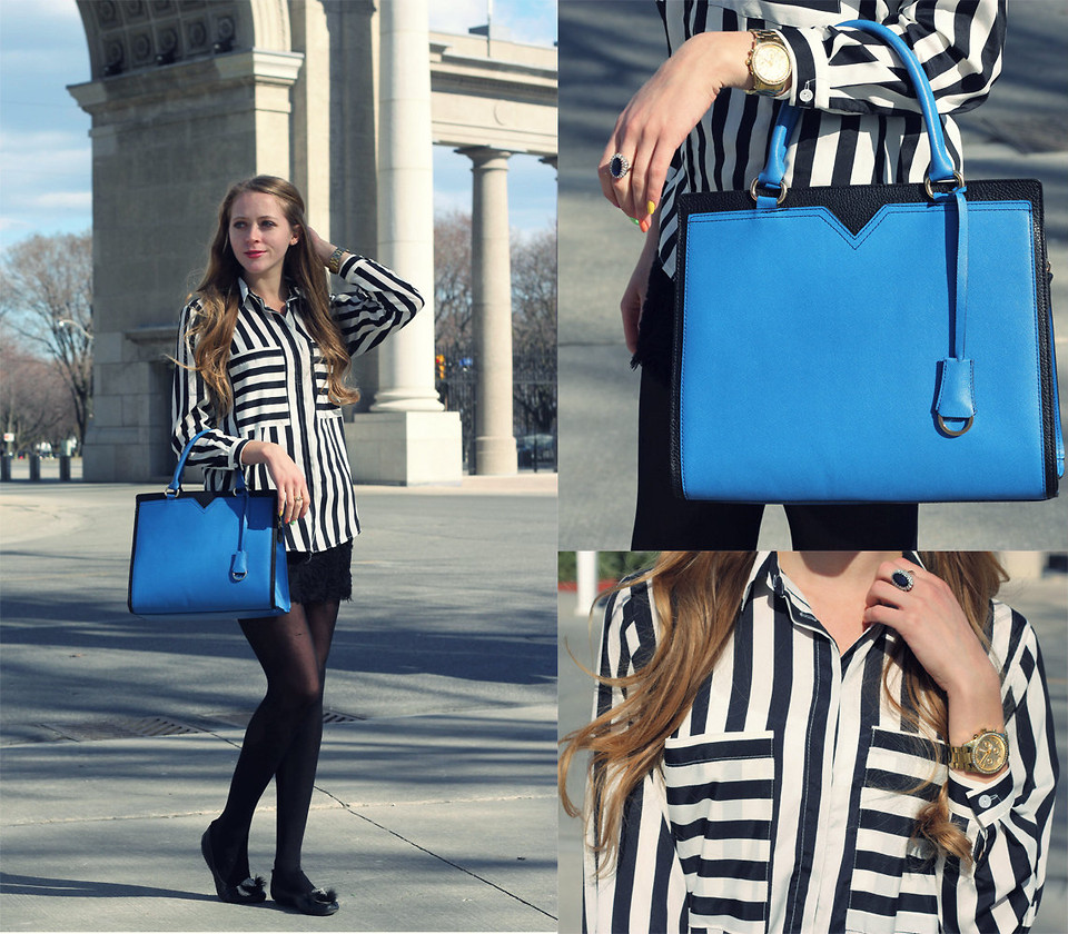 e60376aa2e How to Wear Black and White Stripes - 29Secrets