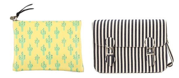 Graphic printed purses