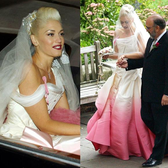Gwen Stefani Wedding Dress Our Favourite Celebrity Bridal Looks 29secrets