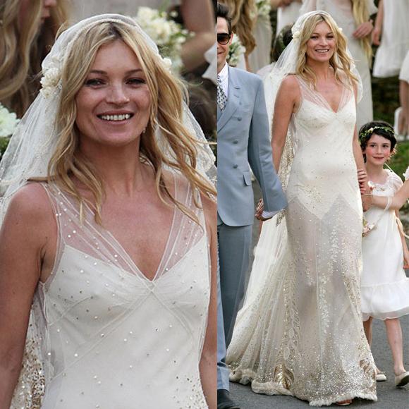 Our favourite celebrity bridal looks 29secrets kate moss wedding dress junglespirit Choice Image