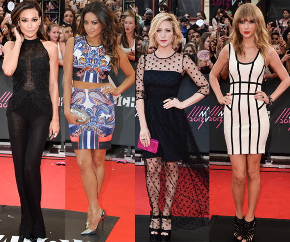 2013 MMVA Red Carpet, Naya Rivera, Shay Mitchell, Brittany Snow, Taylor Swift