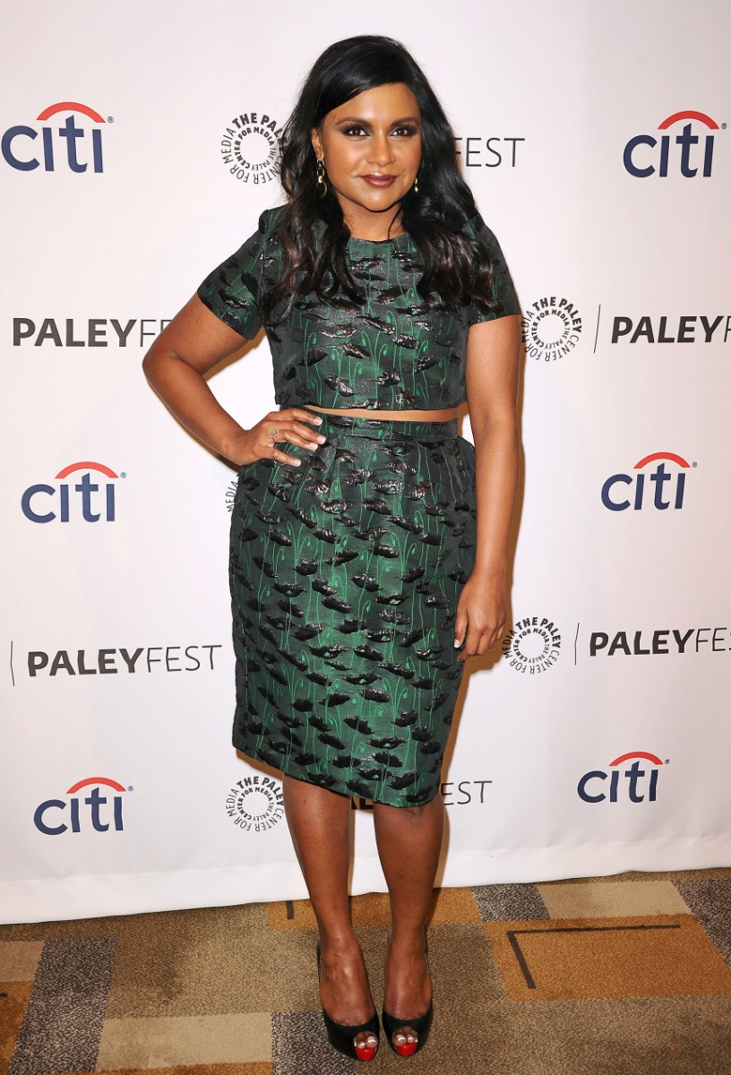 Mindy Kaling Crop Top and Skirt from Top Shop