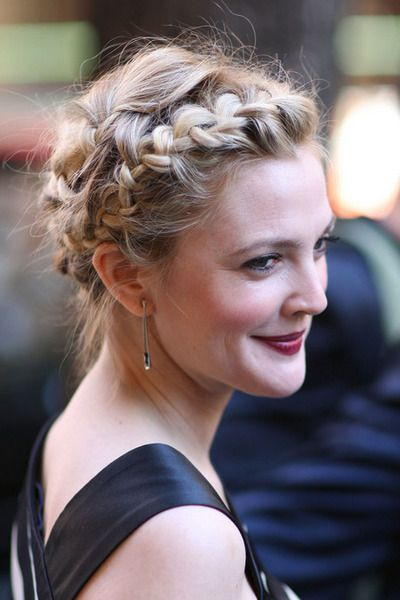 Drew Barrymore Braided Updo