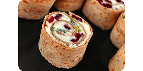 cranberry pinwheel - Best Christmas Appetizers
