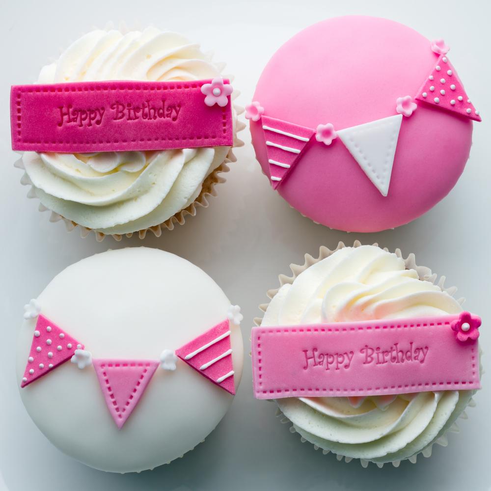 Girl's Happy Birthday Cupcakes