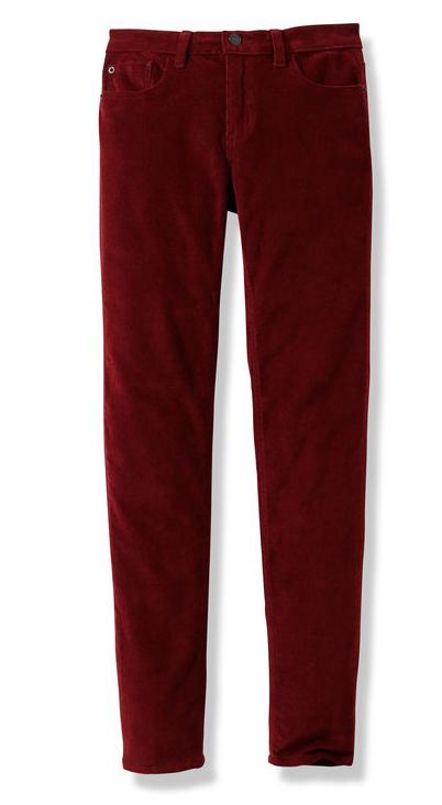 Burgundy Cord Jeans - Joe Fresh