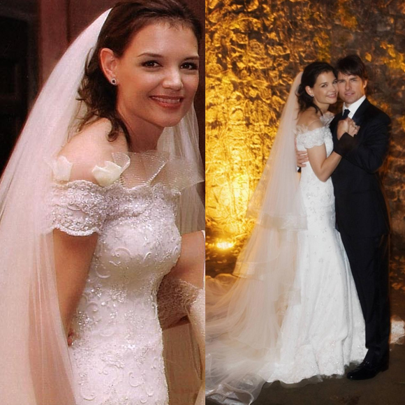 Our Favourite Celebrity Bridal Looks - 29Secrets Katie Holmes Married