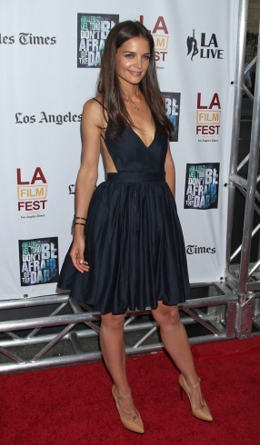 One Celeb Four Looks Katie Holmes Little Black Dress 29secrets