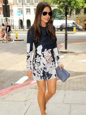 Mila Kunis wearing Cacharel minidress