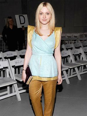Dakota Fanning Rodarte Fall 2012 fashion show